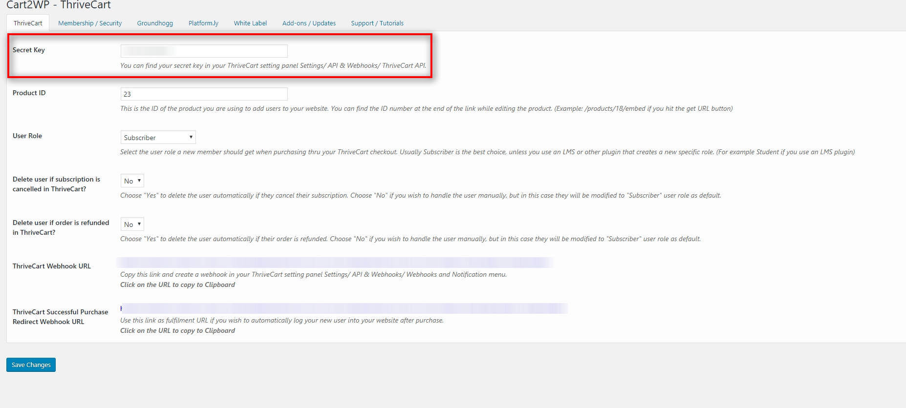 Cart2wp Thrivecart To WordPress Integration V034 Tc Settings 1 (2)