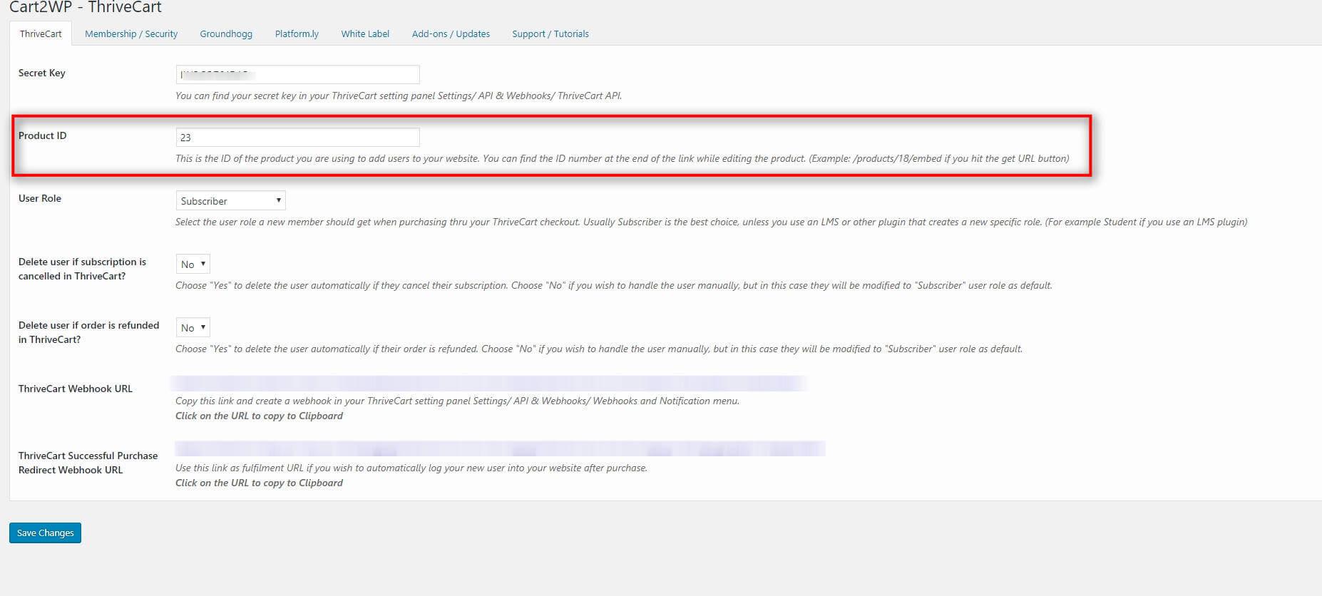 Cart2wp Thrivecart To WordPress Integration V034 Tc Settings 1 (3)