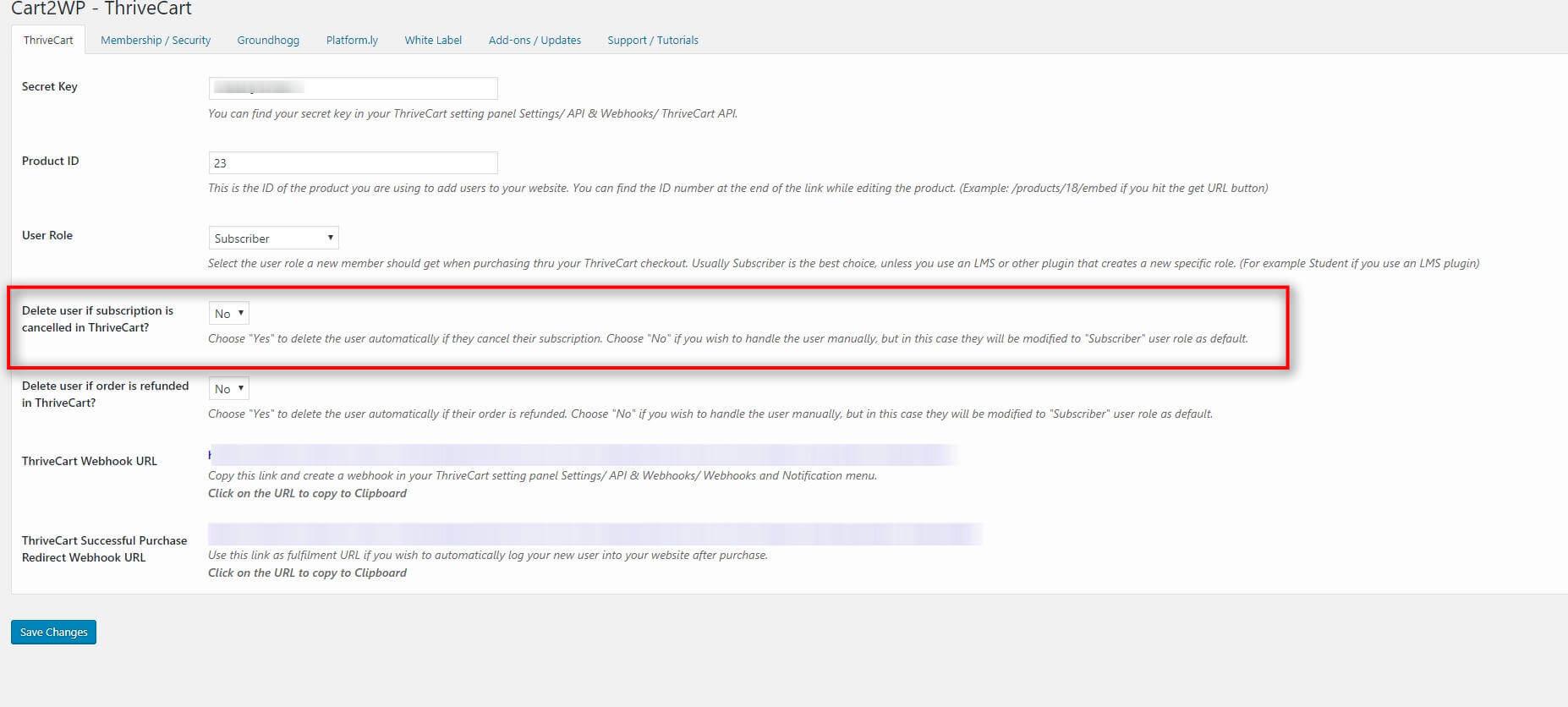 Cart2wp Thrivecart To WordPress Integration V034 Tc Settings 1 (5)