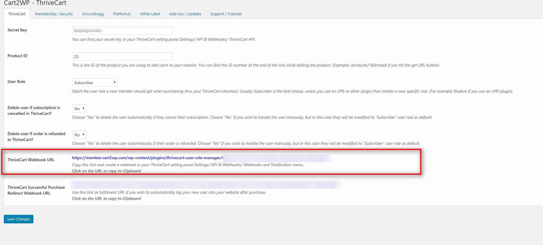Cart2wp Thrivecart To WordPress Integration V034 Tc Settings 1 (7)