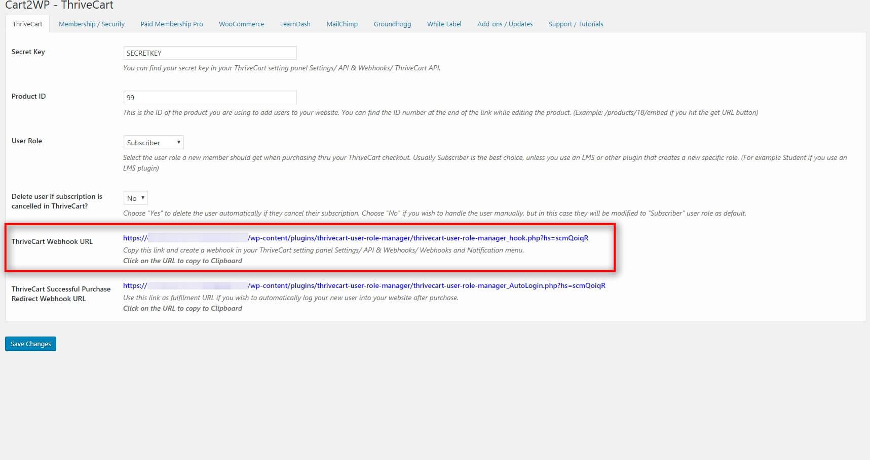 Cart2wp Thrivecart To WordPress Integration V3 Tc Settings 5