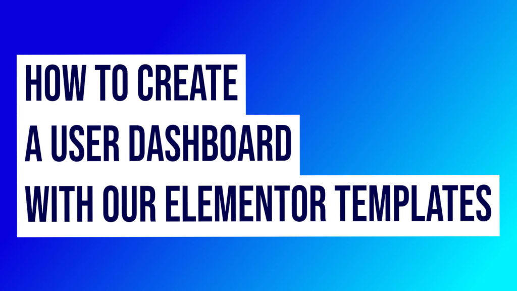 Elementor Dashboard Templates