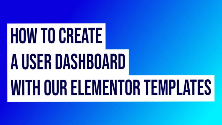 Elementor Dashboard Templates