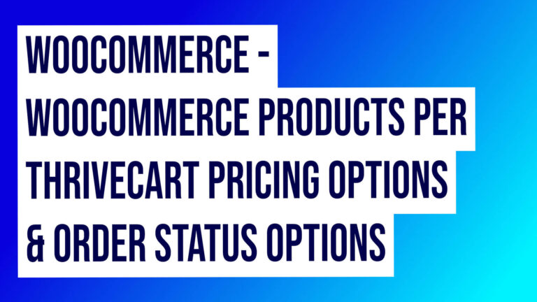 Woocommerce Thirvecart Integration