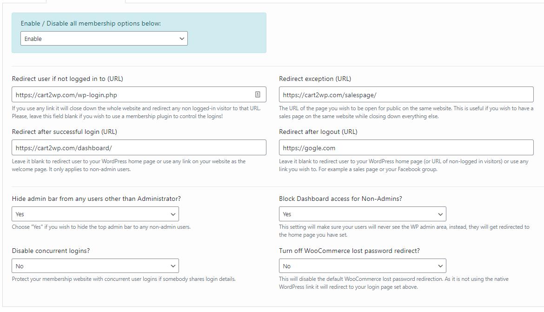 Cart2wp Thrivecart To WordPress Integration Membership Options