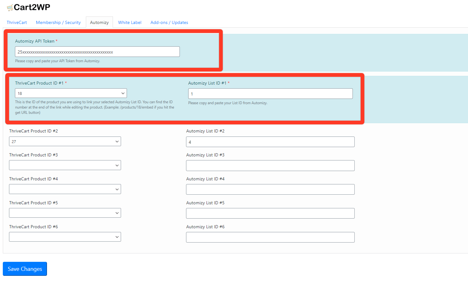 Automizy To WordPress Integration